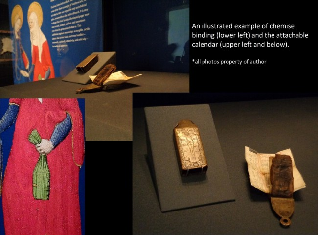 Getty exhibit - chemise binding and belt calendar -  - Photo by Danielle Trynoski