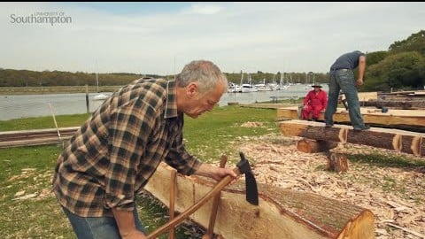 How did medieval seafarers turn trees into boat parts?