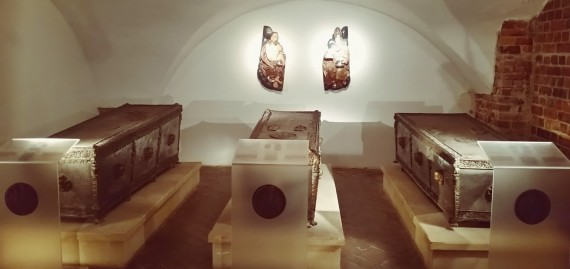 The sarcophagi of the House of Griffin, Dukes of Pomerania (Photo by Medievalists.net)