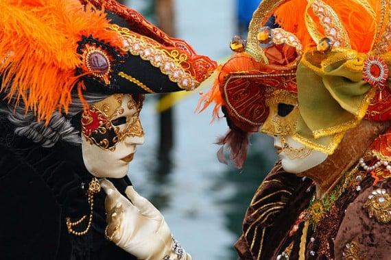 Venetian couple at the Carnival - photo by Frank Kovalchek /Wikipedia