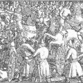Battle of Stamford Bridge - Wilhelm Wetlesen: Illustration for Harald Hardraada saga, Heimskringla 1899-edition