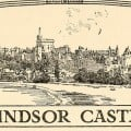 Drawing of Windsor Castle from 1910