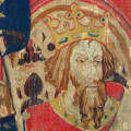 "King Arthur as one of the Nine Worthies, detail from the ""Christian Heroes Tapestry"" dated c. 1385"