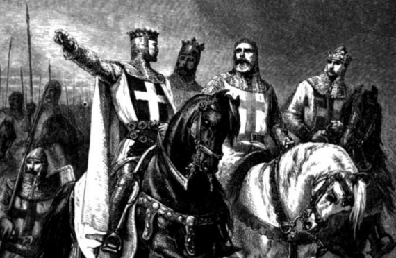 The Four Leaders of the First Crusade (1095) - from François Guizot, The History of France from the Earliest Times to the Year 1789, (London, 1883)