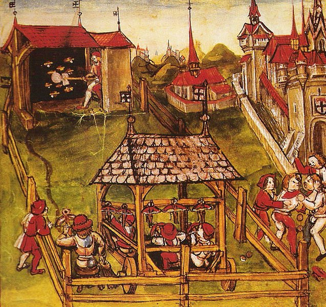 15th century shooting - image by Diebold Schilling the Younger