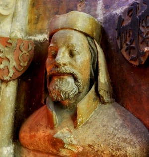 Bust of Charles IV in St. Vitus Cathedral, 1370s - photo by Packare / Wikimedia Commons