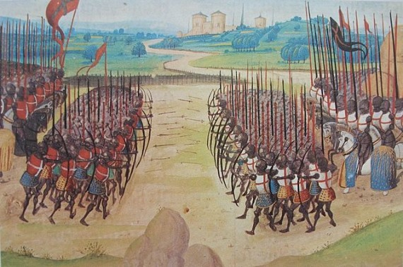 Longbows at the Battle of Agincourt