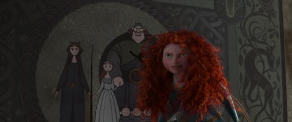 Merida and the Tapestry in Brave