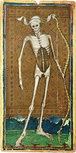 The Death card from the Visconti-Sforza Tarot deck.