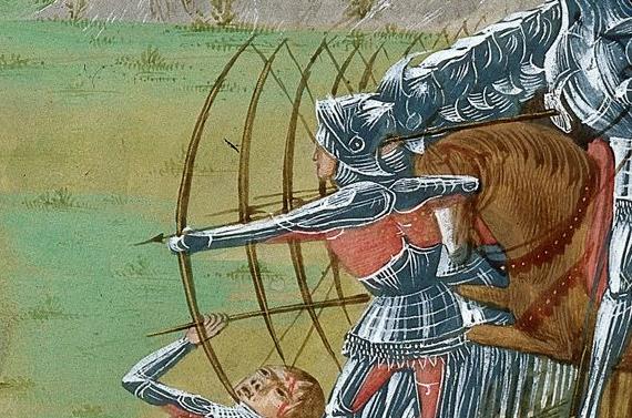Archers - British Library Royal 16 G VIII   f. 189