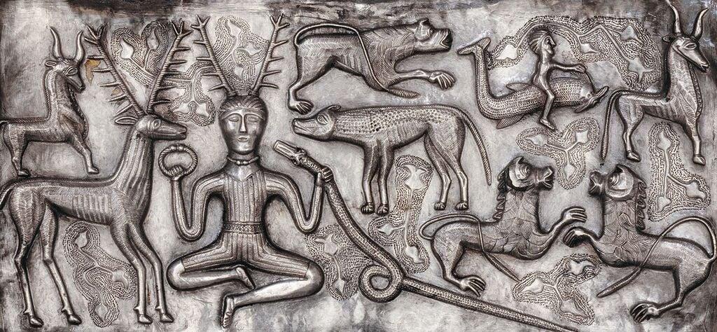 Gundestrup Cauldron. Silver. Gundestrup, northern Denmark, 100 BC–AD 1. © The National Museum of Denmark.