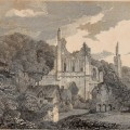 Byland Abbey depicted in Antiquities of Great Britain: illustrated in views of monasteries, castles, and churches, now existing (1807)