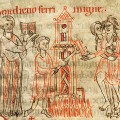 12th century depiction of an ordeal by hot iron