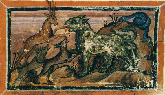 9th century image from the Physiologus