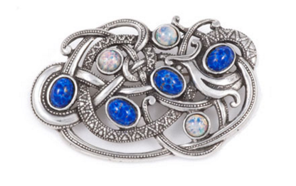 Viking opal blue brooch