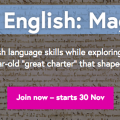Free Online course – Exploring English: Magna Carta
