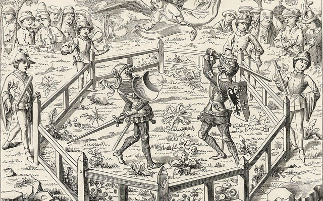 The Duel between Guy of Steenvoorde and Iron Herman