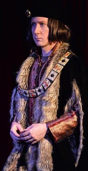 Nicholas Koy Santillo as Richard III. Photo by The Golden Age Theatre Company.