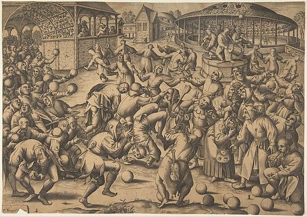 The Festival of Fools - Pieter Bruegel the Elder (1525)