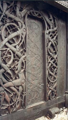 The north portal of the Urnes stavkirke. Photo by NinaNo CC BYSA 3.0