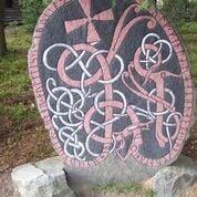 Left: Uppland Runestone 871, public domain