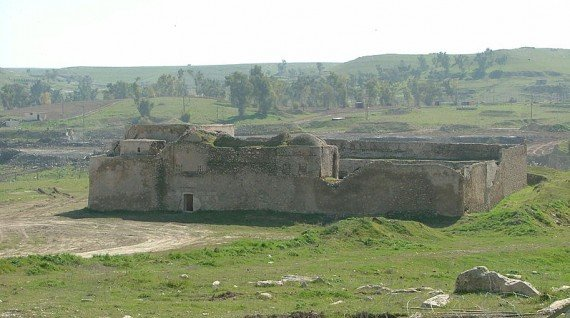 Saint Elijah's Monastery photographed in 2005. It has now been completely destroyed by IS