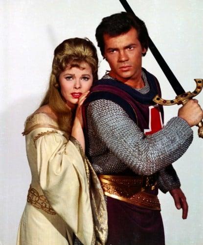 The Magic Sword's hunky hero George (Gary Lockwood) and damsel in distress, Princess Helene (Ann Helm)