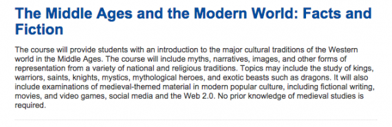 The Middle Ages and the Modern World