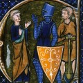 Cleric, Knight and Workman representing the three classes - from British Library Ms Sloane 2435, f.85 '