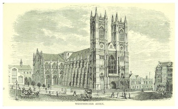Westminster Abbey in 1873, from London: A complete guide to the leading hotels, places of amusement