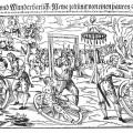 Composite woodcut print by Lukas Mayer of the execution of Peter Stumpp in 1589 at Bedburg near Cologne.