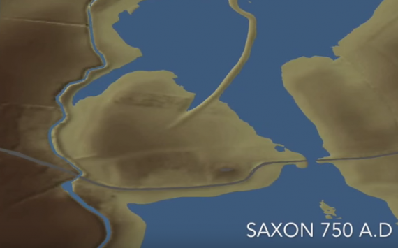 Anglo Saxon island - image from Youtube