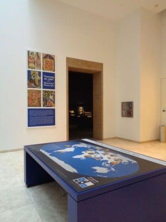 Atrium Map, Getty Museum, Los Angeles, CA. (Photo courtesy of Dani Trynoski)