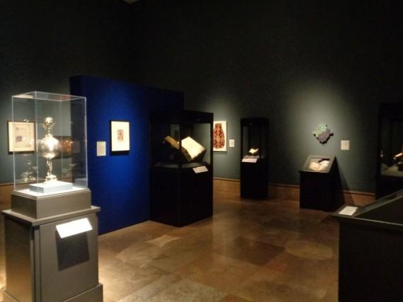 Gallery view. Getty Museum, Los Angeles, CA. 'Traversing the Globe Through Illuminated Manuscript'  (Photo courtesy of Dani Trynoski)