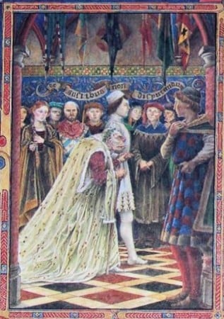 'The Wedding of Sir Gawain and Dame Ragnelle' -  also known as , 'Sir Gawain and the Loathly Lady'