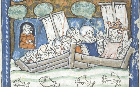Sinking ships - British Library MS Additional 10292   f. 36v