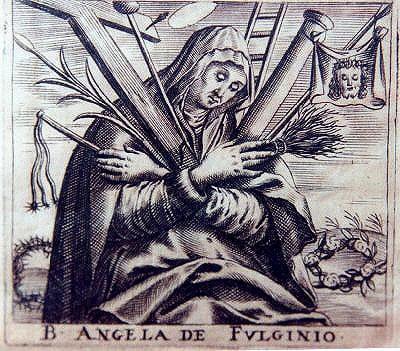18th-century print of Angela of Foligno