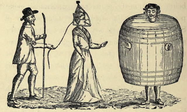 Scold's Bridle and Drunkard's Cloak, ancient punishments of Newcastle (From The Monthly Chronicle of North-Country Lore and Legend, October 1885).
