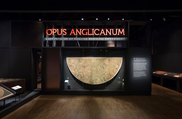 Opus Anglicanum at the V&A. (c) Victoria and Albert Museum, London.