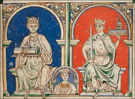 Henry II and Richard the Lionheart by Matthew Paris
