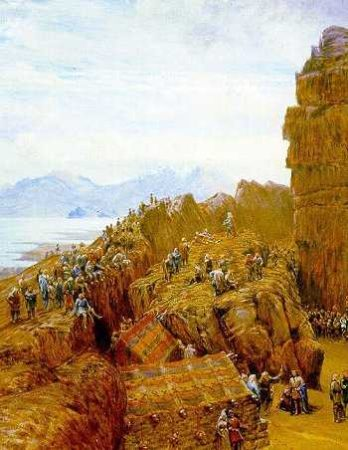 A 19th-century depiction of the Alþingi of the Commonwealth in session at Þingvellir. (Wikipedia)