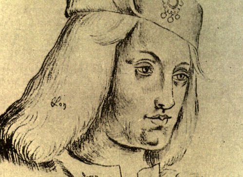 15th century drawing of Perkin Warbeck