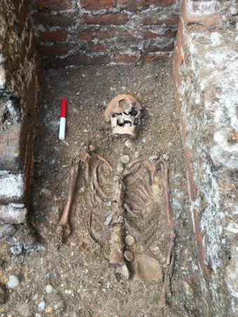 Abbot Wheathampstead Burial Site / Image courtesy of Canterbury Archaeological Trust