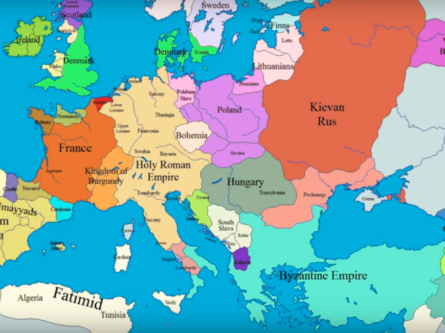 dark ages map of europe How the borders of Europe changed during the Middle Ages