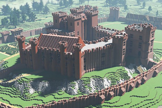 Building Kenilworth Castle On Minecraft
