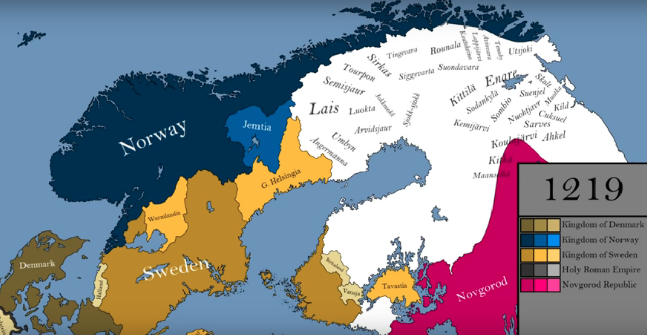 How the borders of Scandinavia changed in the Middle Ages ...