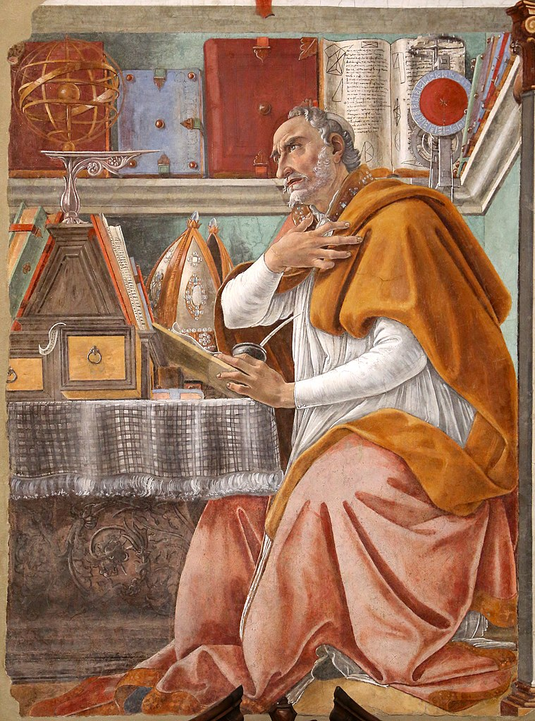 Saint Augustine in His Study,