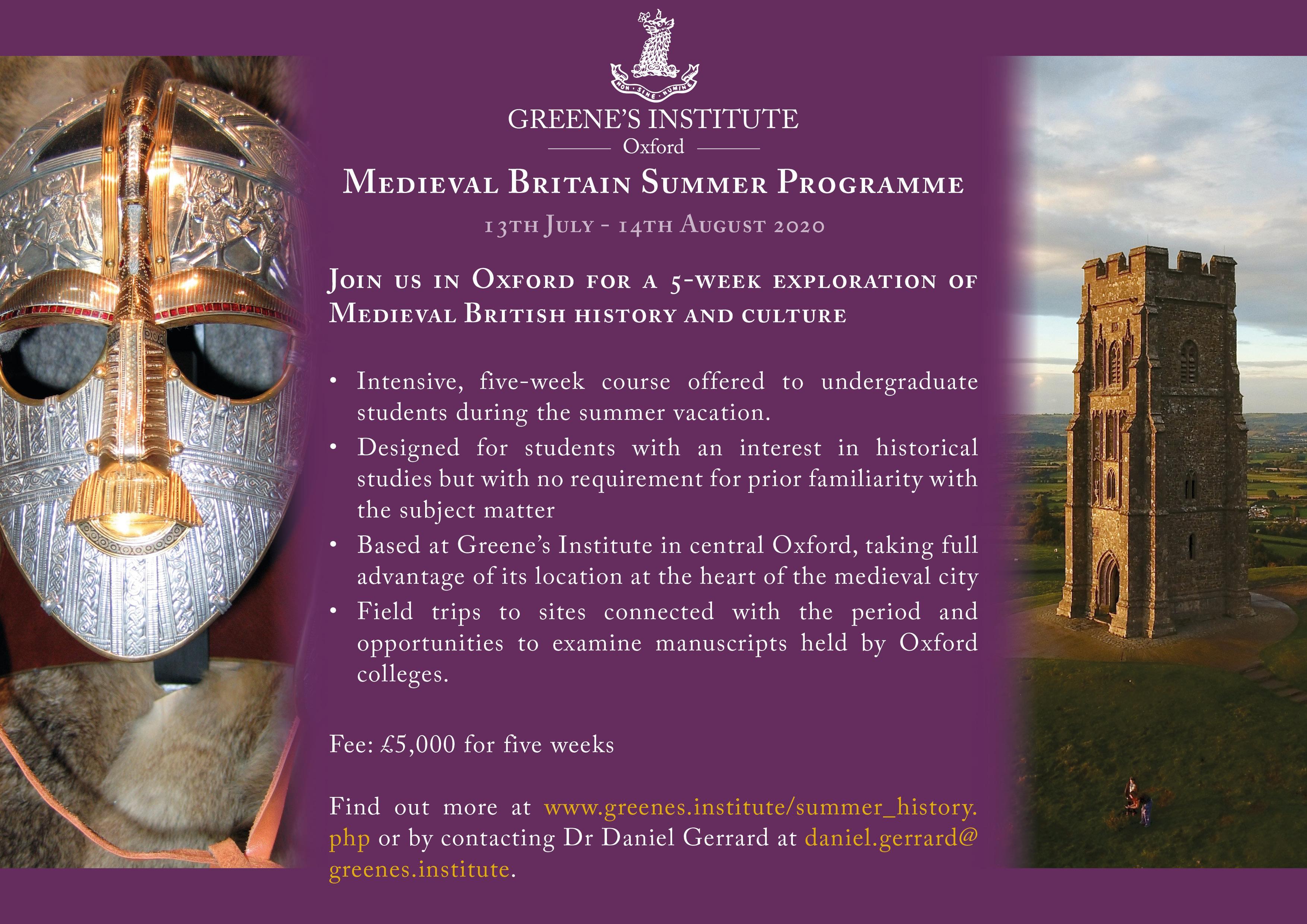 Medieval Britain Summer Programme